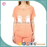 Wholesale lovely cotton womens loungewear pajamas