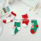 Wholesale baby clothing wholesale wool yarn infant Christmas socks