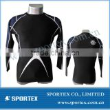 Mens OEM Nylon/spandex compression wear/mens compression top wear/printing compression wear