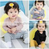 B22455A New Autumn style Sweet Baby Girl thin coat pure color cotton coat