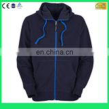 Customized winter zipper hoody 100% cotton high quality blue zip up hoodie jacket- 6 Years Alibaba Experience