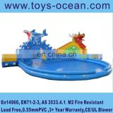 Inflatable Water park with slide ,animals design water slide for kids,giant inflatable water park slide for sale