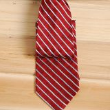 Classic Strips Knit Silk Woven Neckties Striped Pink