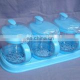 plastic sauce holder,spice set,condiment dispenser