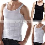 Mens Slimming body shaper vest slim belly buster underwear compression vest