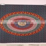 Cotton Printed Round Indian Mandala Tapestry Outdoor Picnic Beach Blanket/Towel