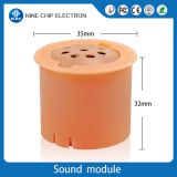 Plush toy vibration activated sound module music squeeze box