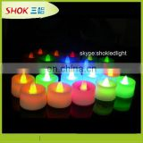 hot!flamless multi color led tealight candle