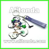 Key chains supply custom pvc cartoon animal figure key chains for promotional gifts