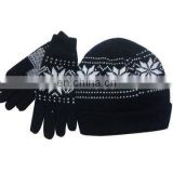 jacquard glove and hats sets