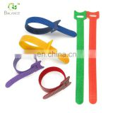 100% nylon self-locking back to back hook and loop strap cable tie hook and loop fastener tape