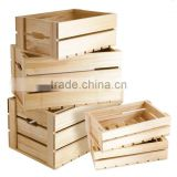 Custom Made Retail Display Wooden Crate,Wooden Fruit Crates                                                                         Quality Choice
