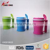 hot sale microwave pp plastic soup mug with spoon and lid                                                                         Quality Choice