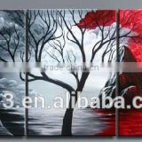 perfect home decoration art painting for black,white and red colour                                                                         Quality Choice