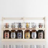Custom Gift Craft Vintage Style 6-Pack Wooden Beer Carrier