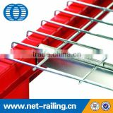 Inverted U channel metal mesh wire deck railing