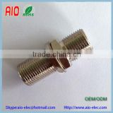 27cm brass F type socket (female) to F type socket (female) barrel coupler adaptor connector