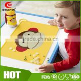 Custom Cartoon Dinning protable kids silicone placemat,silicone eat mat                                                                         Quality Choice