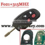 Good quality 4 Button Remote Key FOB with 4D-60 GLASS Chip for Jaguar X type S type