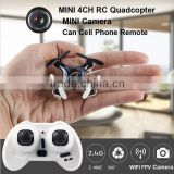 2016 Newest design Cell phone control Mini Drone with Camera 2.4G 4CH 6-axis RC Quadcopter Nano Drone RC WIFI FPV Drone toys