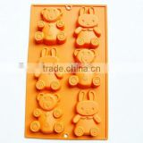 YangJiang factory manufacture hot new products for 2015 different animal shape silicone cake molds