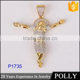 2015 fashion jesus cross 925 silver pendant necklace