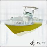 China 22ft fiberglass center console outboard fishing boat for sale