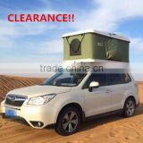 CLEARANCE!! PROMOTION! Shaking hands car top tent Fiberglass Hard Shell Roof Top Tent with Shaking Handle                                                                         Quality Choice