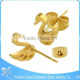 ZS20445 factory price wholesale stud earring fashion gold plated swan earrings