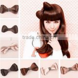 2013hot selling synthetic chignon hair wig accessory with clip