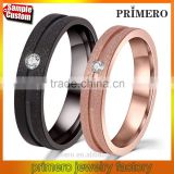 Fashion Wedding Bands For Women Men Matte Finished 316L Stainless Steel Rings For Couple Jewelry