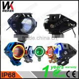 WEIKEN 15W black moto motorcycle bullet led headlight/ Motorcycle spar accessories