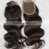 Alibaba express factory direct cheap remy body wave virgin brazilian hair lace closure middle part, U part lace clousre