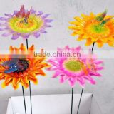 Hot Sale in Russia 6 inch Big Plastic Chrysanthemum Metal Fence Garden Staks for Flowers