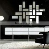 adhesive removable rectangle shape acrylic crystal mirrors decorative wall stickers decor