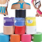 Alibaba express hot selling adhesive therapy kinesiology tape with custom logo available
