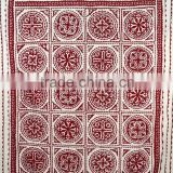 Applique Kantha Quilt Patchwork Bedspread Cotton Handmade Throw Ralli Cut Work Kantha Blanket
