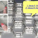 Stainless Steel 304 Hex-Mesh reinforced frame for refractory lining