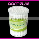 200 pcs Japan OEM design paper red cotton buds in PP box pure cosmetic tip cotton bud swab