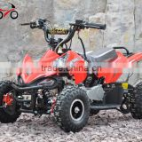 QWMOTO CE 49cc Red Mini Gas Quad Bike 49cc mini buggy ATV 49cc kids 4 wheeler ATV