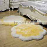 Pure wool carpet fur one piece living room coffee table bed rug plum blossom blanket sheepskin carpet Round Sheepskin Rugs
