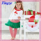 New design wholesale kids two-piece set christmas designs lovely fashion design small girls dress TR-CA06