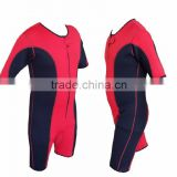 Neoprene Sweat Shirt Rash Guard Sauna Suit Weight Loss Top, MMA Gym Fitness Training Exercise Sweat Shorts Red & Black