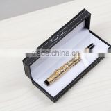 2015 luxury gold fountain pen, High quality metal stylus pen sets with Signature