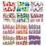 1X Water Stickers Nail Decals Stickers Water Transfers Decal Full Page Cover 12 Flower Designs