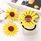 2016 New Lovely Sunflower Hair Accessories Yellow Sunflower Elastic Hair Bands & Brooch Hair Clips For Women & Girl Accessories