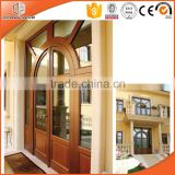 Top quality aluminium wood composit double hinged entry wood doors exterior                                                                         Quality Choice                                                                     Supplier's Choice