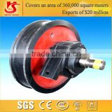 Hot Forged bridge crane trolley wheels gantry crane wheels for wheel mounted crane