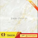 White jade porcelain tiles first choice home marble floor design(TB6036)