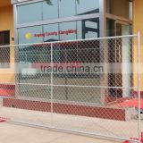 6 ft high cheap temporary chain link event fencing / construction chain link fence panel with cross brace